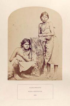 Kurumbars, Nilligiris. (two women, one sitting)