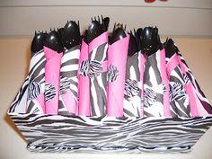 Zebra and pink baby shower