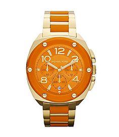 Michael Kors Tribeca Orange Chronograph Watch #Dillards I need this