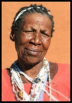 A sangoma (traditional medical practitioner).   North Lesotho.