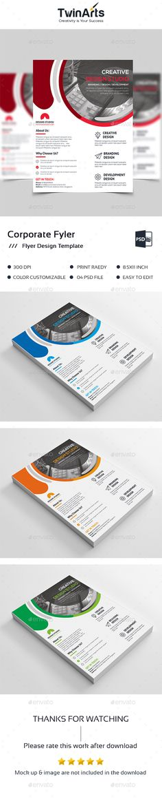 Corporate Flyer Template Psd Vector Eps Ai Illustrator  Flyer