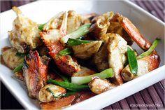 Ginger and Scallion Crab   Ginger and Scallion Crab Recipe   Easy Asian Recipes at RasaMalaysia.com