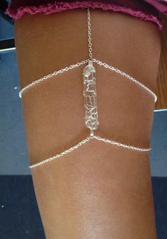 "Crystal Leg Chain Garter Thigh Chain Crystal Leg by shopeclectique.."".....23"