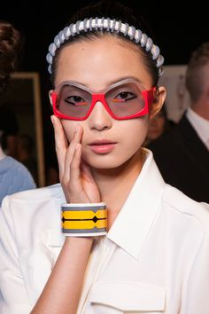 Fendi SS 2013 | Glasses | Evewear | Sunglasses | Frames | Specs | Fashion | Model | Runway | Behind The Scenes | Backstage