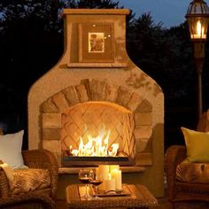 The Outdoor GreatRoom Company Brown Sonoma Surround Gas Fireplace   Wayfair