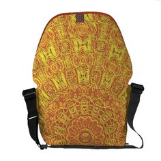 EARTH Element Contours Pattern Messenger Bag from TheElementalHome* - $109.85