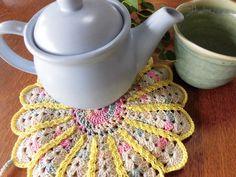 "Big pot mat , Kawaii pot mat , Colourful pot mat , Pot holder , Hot mat , Pot stand , Housewares , Kitchen , Handmade / 7.48""(19cm) - #p34 / by YuminaCafe"