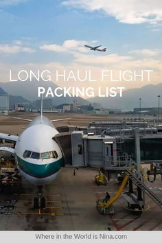 Long haul flights are the WORST. Here's everything you need to know on surviving them, including a long haul flight checklist and tips. Pin this to your travel board for later! Packing List For Travel, Packing Hacks, Packing Lists, Travel Hacks, Travel Advice, Travel Ideas, Long Haul Flight Tips, Snowmobile Tours, European Travel Tips