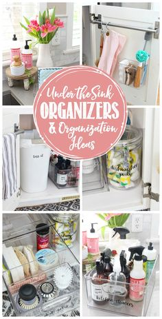 Lots of great under the sink organizers and organization ideas! Under Kitchen Sink Organization, Under Kitchen Sinks, Household Organization, Organization Hacks, Kitchen Pantry, Organizing Ideas, Sink Organizer, Organizers, Dishwasher Pods