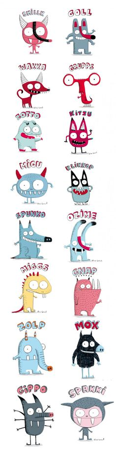 Cute monster illustration by Elise Gravel Illustration Mignonne, Monster Illustration, Children's Book Illustration, Character Illustration, Illustration Children, Monster Characters, Cute Characters, Cute Monsters, Little Monsters