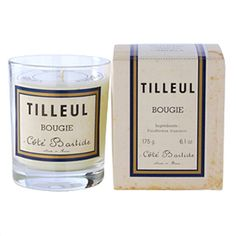 Cote Bastide Lime Tree Candle - Hand poured, paraffin wax. Made in France.