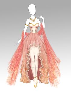 (CLOSED) Adoptable Outfit- 008 by butterjellyfish on DeviantArt – outfits Dress Design Drawing, Dress Design Sketches, Dress Drawing, Fashion Design Drawings, Anime Outfits, Mode Outfits, Fashion Outfits, Kleidung Design, Fashion Drawing Dresses