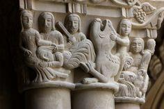 Más tamaños | San Pedro el Viejo, Huesca (Spain). | Flickr: ¡Intercambio de… Medieval Art, Romanesque, Columns, Mists, Lion Sculpture, Objects, Statue, Photo And Video, History