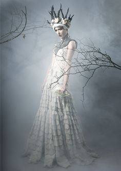 Torn V for Dark Beauty Magazine by Michelle Fennel on 500px white witch or snow queen ,fairy godmother or fantasy princess this is a dress you will all sigh for