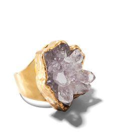 LoveTatum Amethyst Rosette Ring