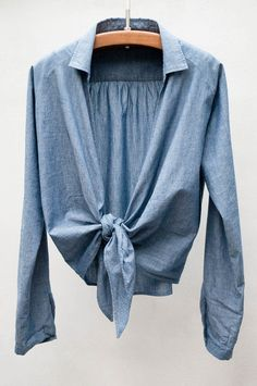 Pomandere Chambray Tie Top