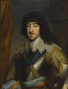 Gaston of France,Duke of Orléans by Anthony van Dyck(Musée Condé)-В 1626 Гастон женился на богат.герц.де Монпансье(1605-1627),правнучке 1-го герцога Монпансье.В 1632 после смерти 1й жены-на Маргарите Лотарингской (1615- 1672),сестре Карла IV.После смерти брата в 1643 назн.наместником корол-ва (но регентшей стала вдова Анна Австр.), команд.войсками гос-ва против Испании.Но в 1650-е,во вр.фронды,пост.переходил с одн.стороны на др.Мазарини приказал выслать его в Блуа,где Гастон и умер.