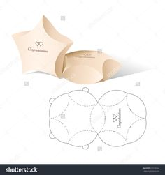 Retail Box And Die Line Template Illustration vectorielle libre de droits 379738354 : Shutterstock