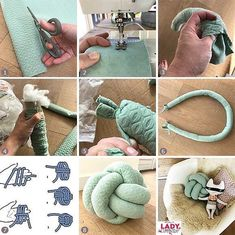 button ball button ball button button cushion button cushion knot pillow cussion diy make sew nursery nursery girl boy throw pillow pillow mint pattern self make Diy Home Crafts, Sewing Crafts, Sewing Projects, Diy Projects, Sewing Tips, Yarn Crafts, Decor Crafts, Knot Cushion, Knot Pillow