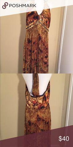 Multi color Halter Dress Beautiful flowing & Fun Halter Dress. Worn Once Dresses Backless