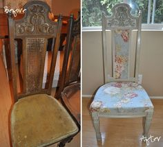 a boy, a girl, and 2 mini aussies: DIY | $5 dining chair redone