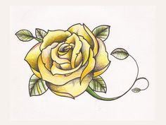 "Yellow rose tattoo. Thinking of having three roses, surrounded by vines. With the quote, ""Every rose has its steel thorns"" around it. So excited to get my piece done! All inspired by the Tyrell house."