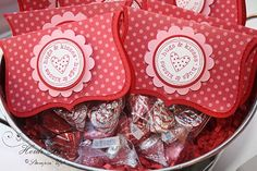 I hope I can find Valentine kisses here.  Cute idea for the class.