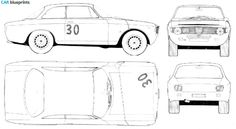1967 Alfa Romeo GTA Coupe blueprint