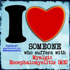 You can show your support for your loved ones who suffer with #ME on Valentine's Day by posting this picture.
