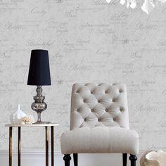 Concrete Script Gray Wallpaper - Designer Plain Wall Coverings by Graham  Brown