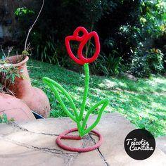 Decoração criativa! #tricotincuritiba #decoraçãodeinteriores #decoração #tricotin #tulipas#presentecriativo