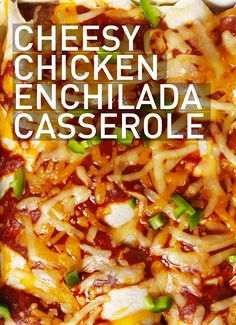 Kick off every day (and fiesta) with this easy and super cheesy Chicken Enchilada Casserole. #BiteMeMore #recipes