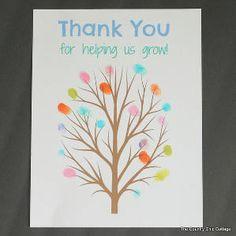Fingerprint Art Teacher Gift - would make a great teacher gift on a plate or platter