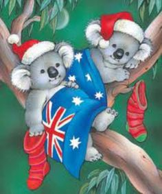 Inkspirational Designs: Past Christmas Craft Tutorials Australian Christmas Cards, Aussie Christmas, Summer Christmas, Christmas Cards To Make, Vintage Christmas Cards, Xmas Cards, Christmas Art, Christmas Decorations, Christmas Stuff