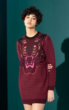 Knit Tiger Dress, KENZO