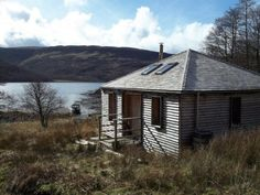 This Bothy building on West Coast of Scotland is on an island and can only be reached by boat