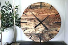 Mid Century Modern Hardwood Spalted Maple Wall Clock with Black Number Lines Handmade Clocks, Spalted Maple, Kiln Dried Wood, Types Of Wood, Mid-century Modern, Hardwood, Mid Century, Cabin Ideas, Wall