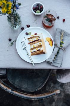 All things bright and beautiful.... — delta-breezes:   Peach Gooseberry Thyme Cake...