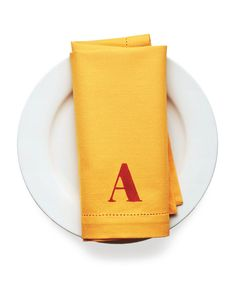 DIY Monogrammed Napkins are easy to make and can act as place cards.