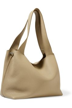The Row | Duplex horse hair-trimmed textured-leather shoulder bag | NET-A-PORTER.COM