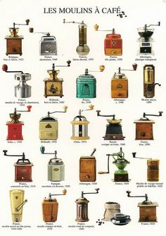 ..old time coffee grinders....if anyone runs across one of these  items, please let me know...
