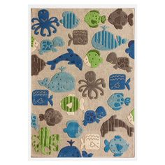 I pinned this Aquarium Rug from the Colorful Kids Rugs event at Joss and Main!