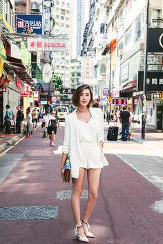 Lovegold_chriselle_lim_wanderlust_hong_kong_asia the chriselle factor travel wardrobe, street chic, spring street style, korean street Korean Fashion Summer, Asian Fashion, Trendy Fashion, Trendy Outfits, Fashion Outfits, Spring Fashion, Fashion 101, Kpop Fashion, Gold Fashion