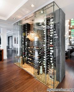 Modern Wine Cellar Design. IN MY HOME RIGHT MEOW! Holy bananas!!!! @Ashley Eckhoff this is amazing!!!