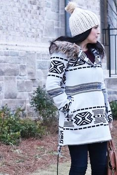 Boho Casual Winter Coat - Darling Darleen   A Lifestyle Design Blog
