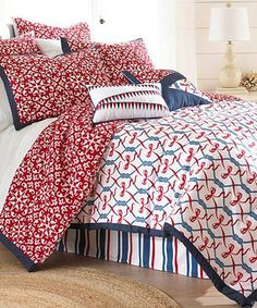 Nautical Embellished Comforter Set by Colonial Home Textiles #zulily #zulilyfinds