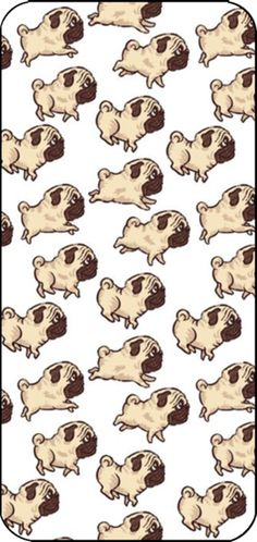 """A lot of Pug"" Phone Case. Obviously I need this."