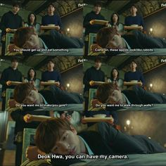 They are so care to cutie Deok hwa. Such a sweet family . Goblin ep 12