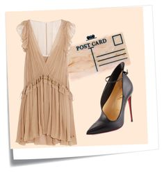 """""""Untitled #38"""" by sherra-mua-ph on Polyvore featuring Post-It, Edie Parker, Chloé and Christian Louboutin"""