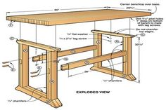 Building a simple work bench will teach you how to build that woodworking bench you've been wanting.